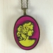 Cameo Pendant - bright yellow/magenta