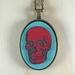 Skull Pendant - red/gulf blue