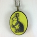 Rabbit Pendant - bright yellow