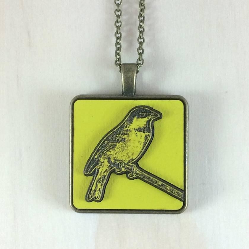 Sparrow Pendant - bright yellow