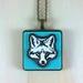 Fox Pendant - white/gulf blue