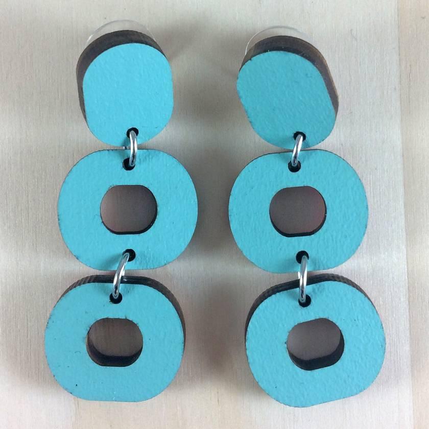 Loopy Earrings - gulf blue