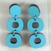 Loopy Earrings - gulf blue