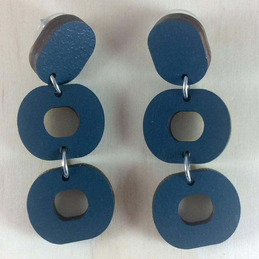 Loopy Earrings - dark blue