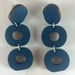 Loopy Earrings - dark blue