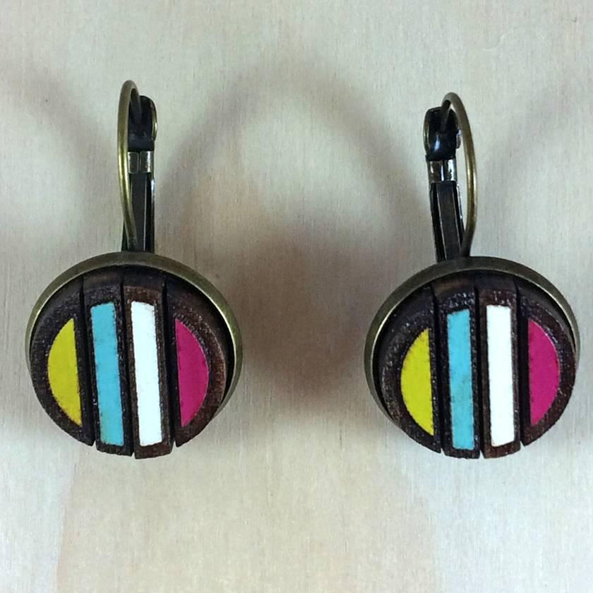Stripe Earrings - multi-coloured