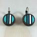 Stripe Earrings - emerald