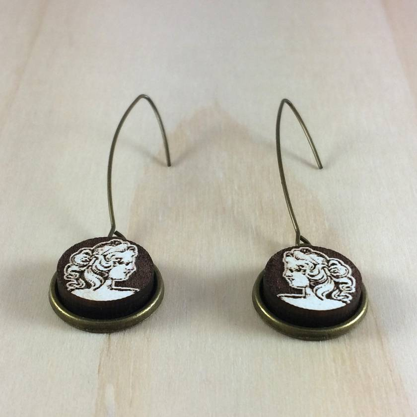Cameo Earrings - white