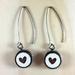 Heart Earrings - white