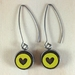Heart Earrings - bright yellow