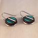 Stripe Earrings, Laser Cut - Green