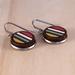 Stripe Earrings, Laser Cut - Multi-Coloured