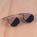 Forward Slash Earrings, Laser Cut- White/Dark Blue