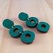 Loopy Earrings, Laser Cut - emerald green