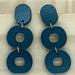 Loopy Earrings, Laser Cut - dark blue