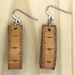 Leather Tape Measure Earrings - London Tan