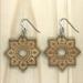 Mandala Earrings - Bamboo