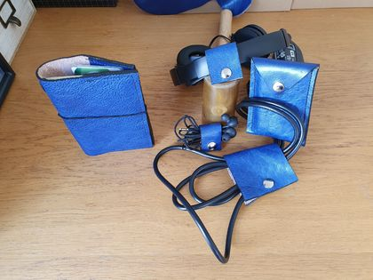 Leather matching gift set