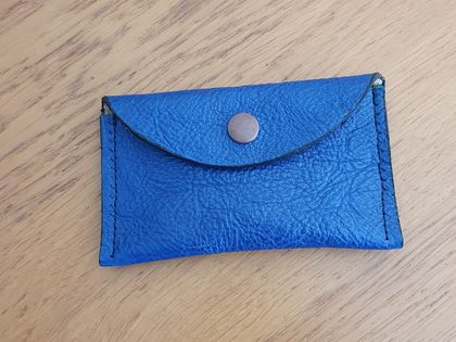 Blue leather pouch/coin purse