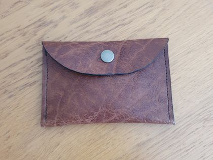 Brown leather pouch/coin purse