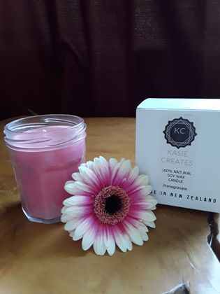 Natural Soy Candle - Pomegranate