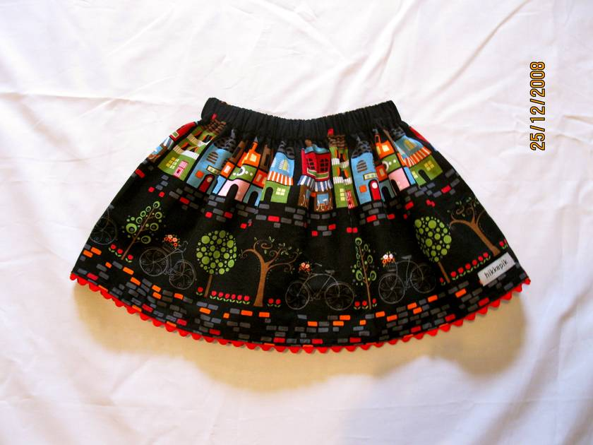 The twirly bicycle skirt!