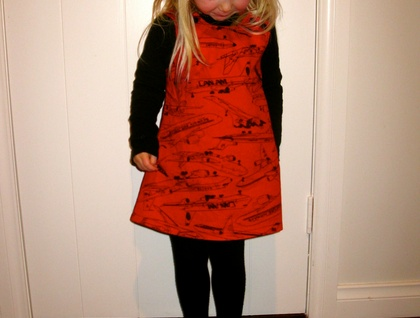 Red aeroplane pinafore !