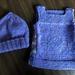 Newborn baby vest and hat