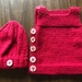 Newborn baby vest and hat