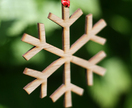 **Bamboo SNOWFLAKE christmas decoration**