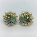 Pearl and crystal earrings #8
