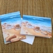 2 Fine Art cards  'Beach Scene'