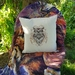 Wise Owl Embroidered Cushion Cover