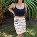 Wrap Mini Skirt Goldfish Print