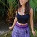 Purple Punk Tartan Skirt
