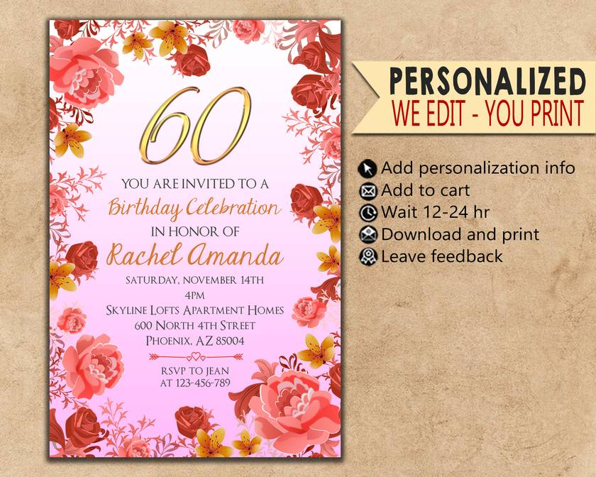 Birthday Invitations Party Card