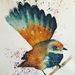 Fantail watercolour painting