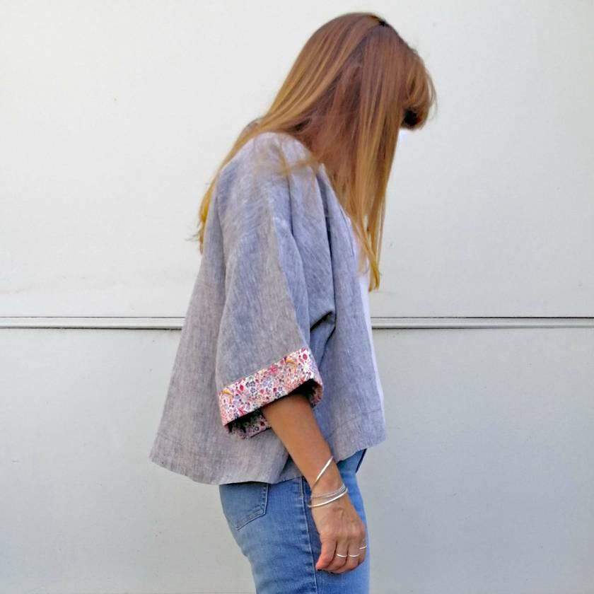 86560554be REDUCED - 40% OFF Easy Kimono style linen jacket