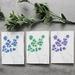 Set of 3 Fine Art Blossom Floral Greeting Cards