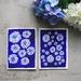 Set of 2 Fine Art Contrast Blue Flower Greeting Cards