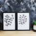 Circle Floral Stem Set of 2 Art Prints - Size A3
