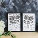 Hydrangea Stem Flower Art Print Set of 2 - A3