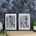 Grey Leaf Stem Art Print Set of 2 - Size A3