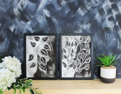 Leaf Stem Art Print Set of 2 - Size A3
