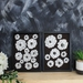 Contrast Black and White Floral Art Print Set of 2 - A3