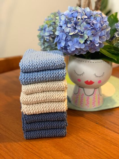 Cotton face cloth or dish cloth
