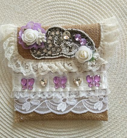 Lovely Shabby Chic Gift/Jewelry Bag
