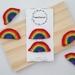 Crochet rainbow hair clips