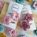 Crochet flower hair clips