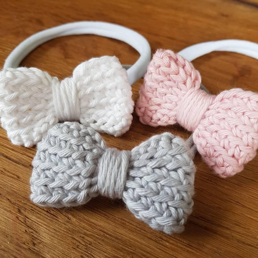Crochet bow headband/tie